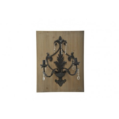 Lanterne murale fer marron 43x18x56cm jolipa j line for Decoration murale j line