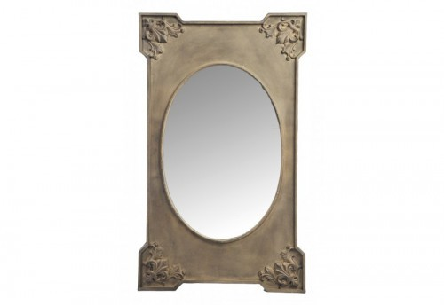 Miroir Lys Rectangle/Ovale Fer Marron 61X6X101Cm J-line