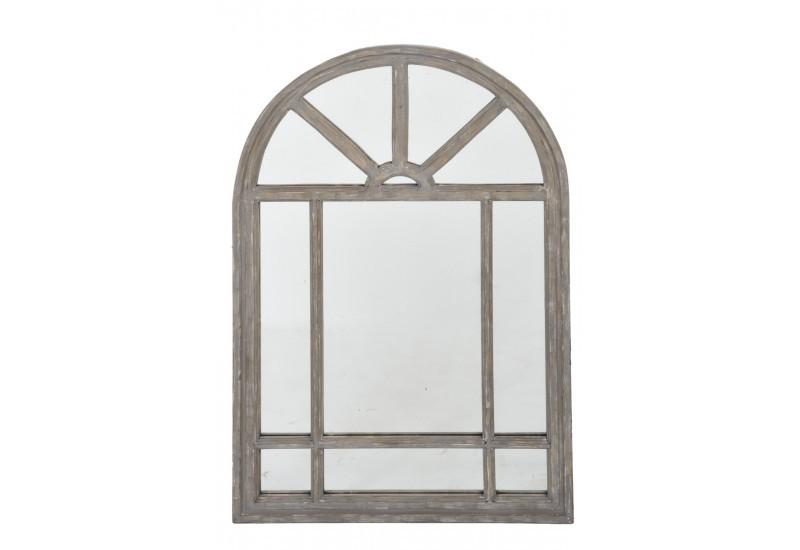 Miroir fen tre tryptique en m tal rectangulaire 120x95cm for Miroir bois metal