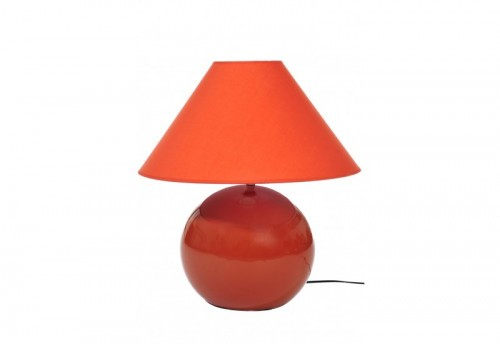 Lampe + Abj Céramique Orange 40X35Cm J-line