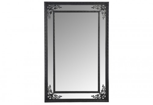 Miroir Bord Rectangle Bois Noir 80X125Cm J-line