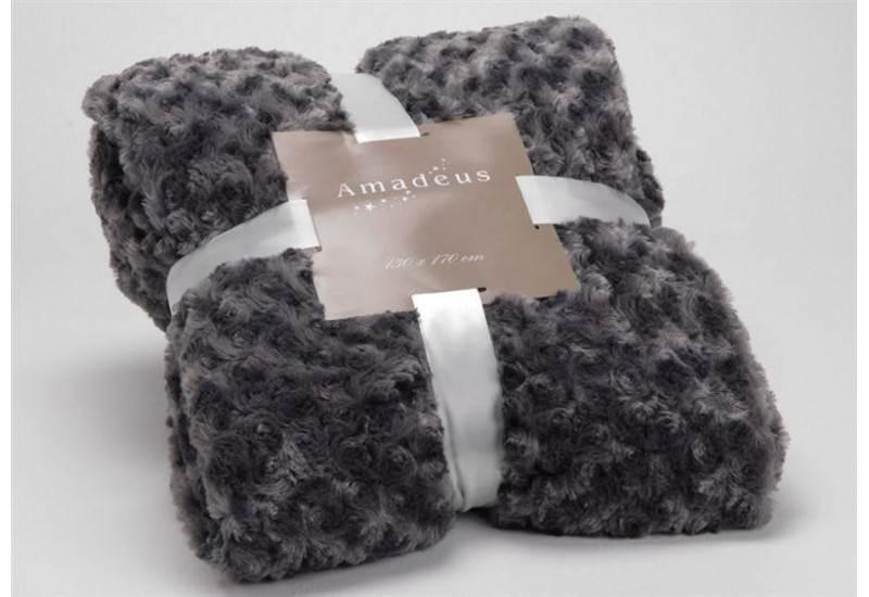 plaid fourrure gris pas cher table de lit. Black Bedroom Furniture Sets. Home Design Ideas