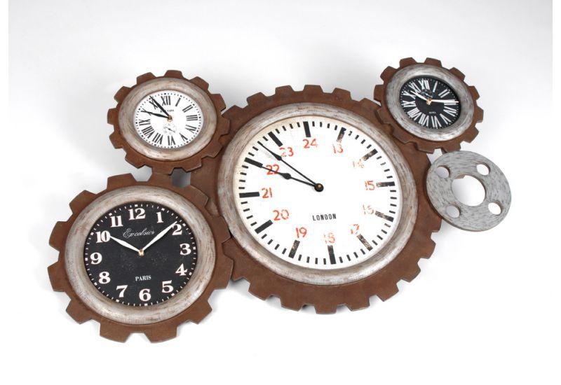 cool grande horloge murale salon horloge engrenage hubert amadeus with horloge rouage maison du. Black Bedroom Furniture Sets. Home Design Ideas