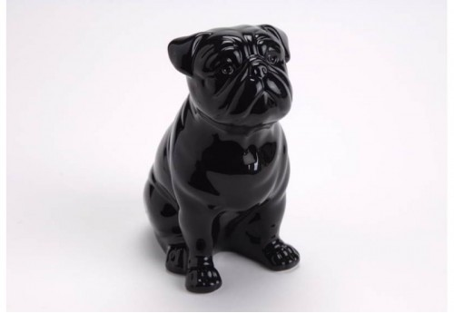 Bouledogue Assis Gm Noir  Amadeus