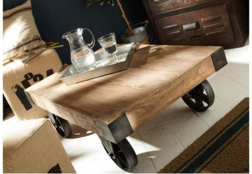 Table basse roue leon Amadeus
