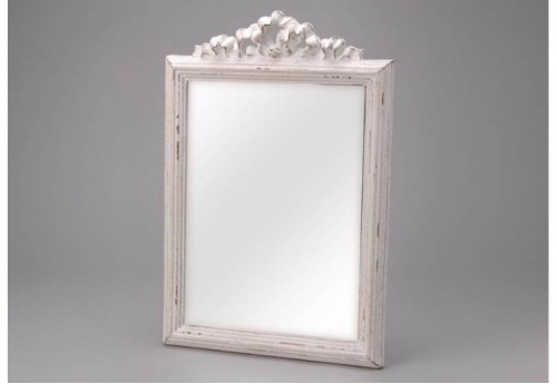 Miroir Blanc Vieilli Rectangle Amadeus