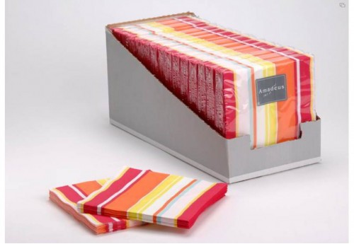 20 Serviettes 33X33 Stripes Flashy Amadeus