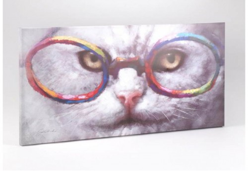 Toile Chat Lunette  Amadeus