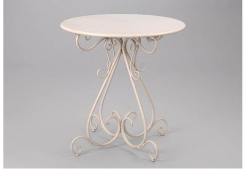 Table Ronde Blanc Flanelle B Amadeus