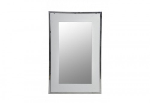 Miroir Rectangle Métal Argent 54X2X84Cm J-line
