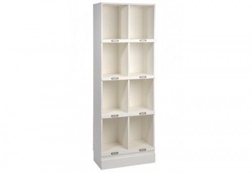 Etagère 8 Casiers Rectangle Bois Blanc 60X31X170Cm J-line