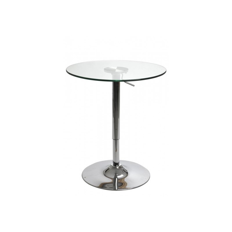 97 table ronde plateau verre pied central table ronde for Table ronde plateau verre pied central