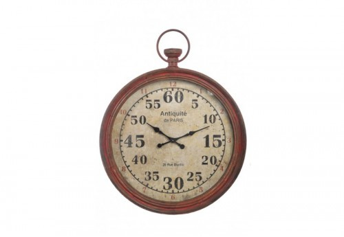 Horloge Antique De Paris Fer Rouge 90X11,5X114Cm J-line