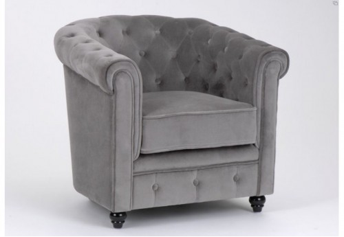 Chesterfield gris clair Amadeus