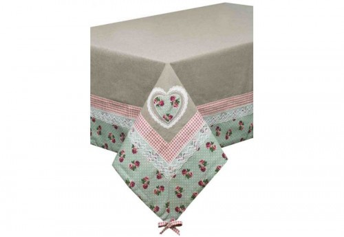 Nappe Rectangulaire 150X250 Brodee Trendy Pastel