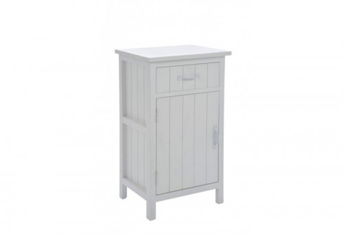 Table De Chevet Bois Blanc 45X35X77Cm J-line