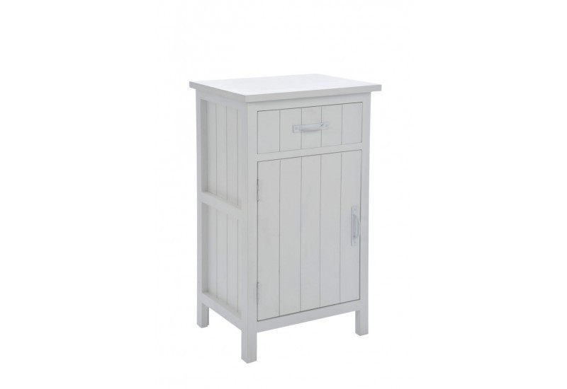 Table de chevet bois blanc 45x35x77cm j line j line by - Table de chevet bois blanc ...