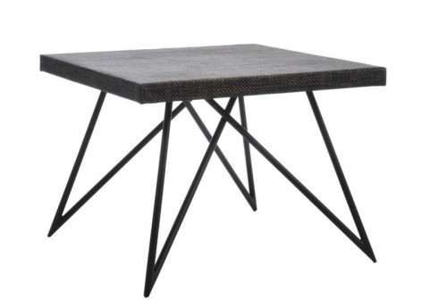 Table Carrée Fer forgé Marron 60X60X46Cm J-line