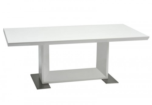 Table Salon en Bois Métal Blanc 120X60X44Cm J-line