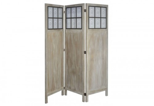 Paravent 3 Portes 18 photos Bois Naturel 160X152X3Cm J-line