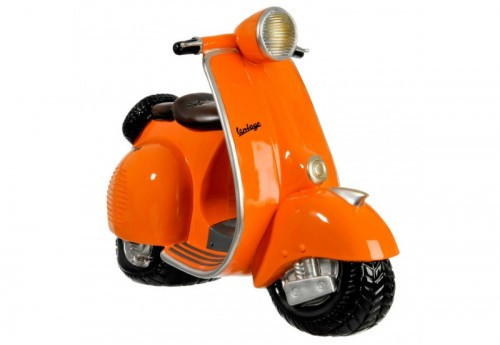 Tirelire Vespa Résine Orange 56X25X41Cm J-line
