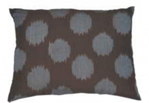 Coussin ikat taupe 30x40