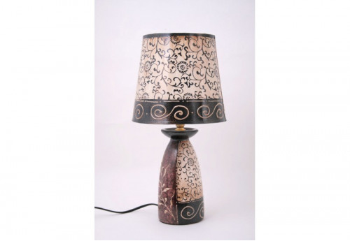 Lampe Bouteille / Quille Feuille Tendance SOCADIS