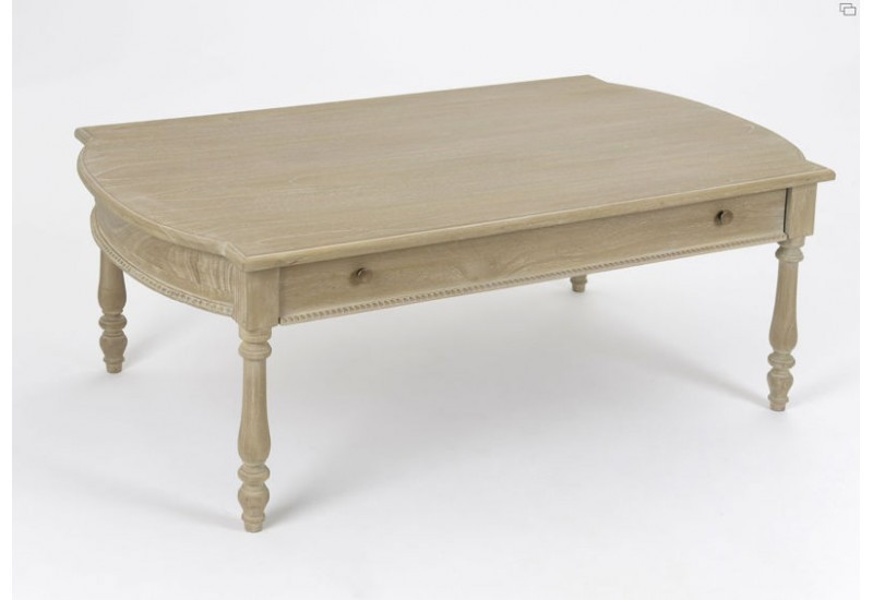 Table basse 1 tiroir ceruse amadeus amadeus 14089 - Table basse amadeus ...