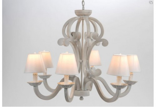 Lustre Debby Blanchie 6 Lampes AMADEUS