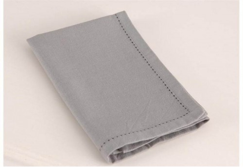 Serviette De Table  Grise Fil Teint AMADEUS