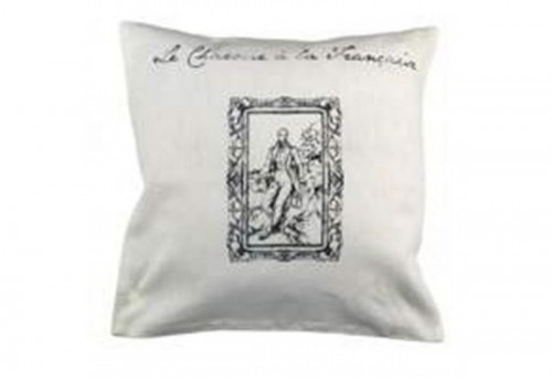 Housse + coussin 40 x 40 Chaume et colombage