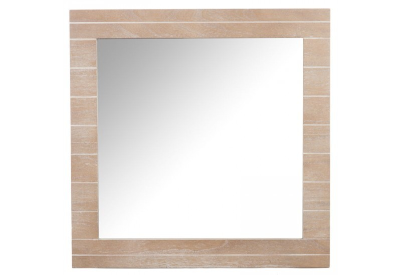 Miroir carre bois naturel 72x2x72cm jolipa j line by for Miroir carre