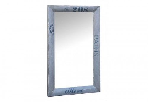 Miroir Rectangle Métal Gris Antique 70X120Cm Jolipa