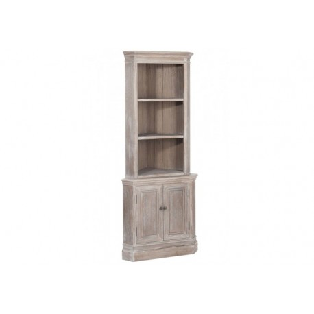 armoire de coin 2 plateaux 2 portes bois naturel 49x49x110cm joli. Black Bedroom Furniture Sets. Home Design Ideas
