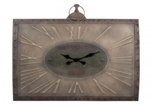 Horloge Rectangle London 1879 Métal Marron 91X7X81Cm Jolipa