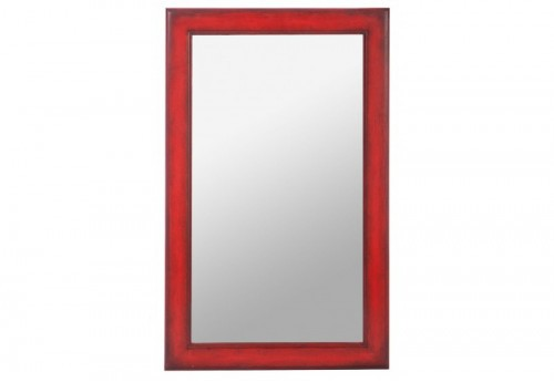 Miroir Rectangle Bois Rouge 80X3X50Cm Jolipa