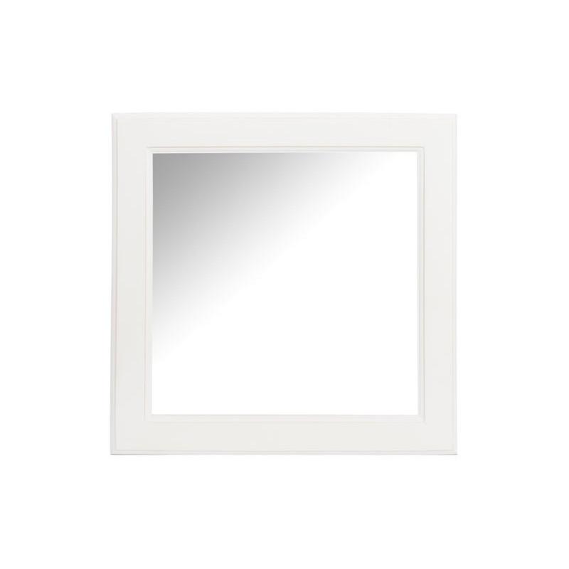 miroir carre blanc 50x3x50cm jolipa j line by jolipa 15056