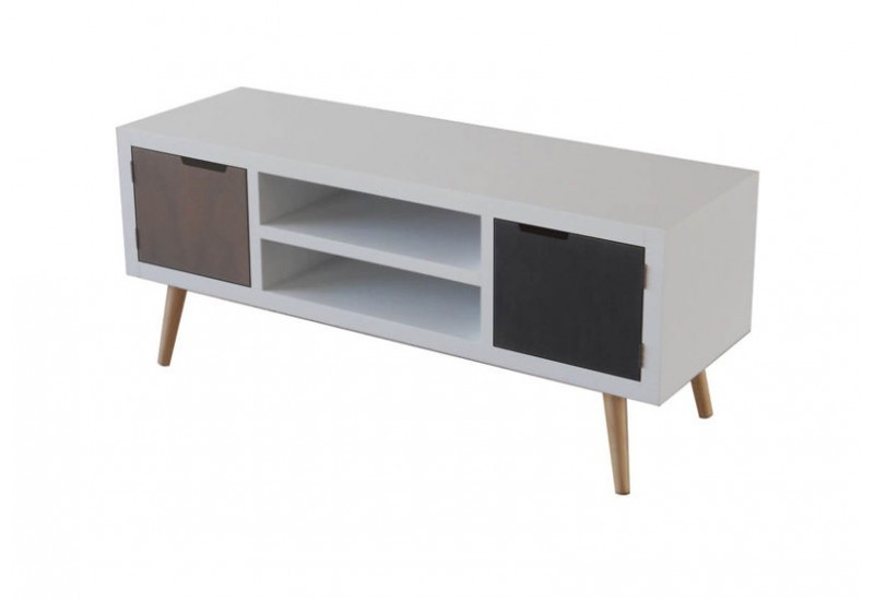 Meuble tv inspiration scandinave solutions pour la for Meuble tv scandinave