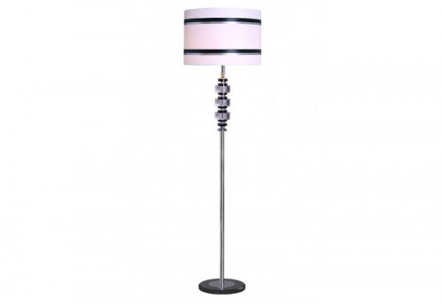 Lampadaire Cylindres Cristal Empiles