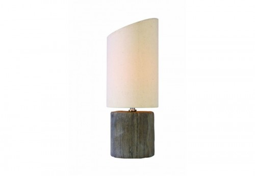 Lampe Cylindre Effet Bois