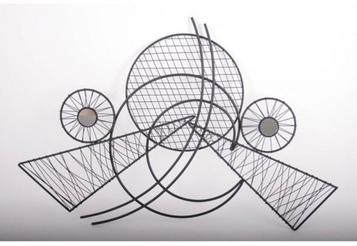 2 Triangles Cercles Fils Noirs