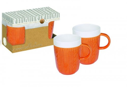 Ensemble 2 Mugs Orange 400Ml