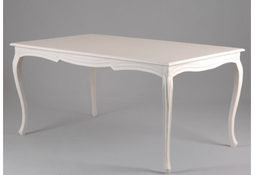 Table rectangle shabby chic blanche 160x90 paloma Amadeus