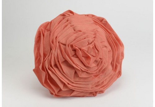 Coussin rond rose corail Amadeus