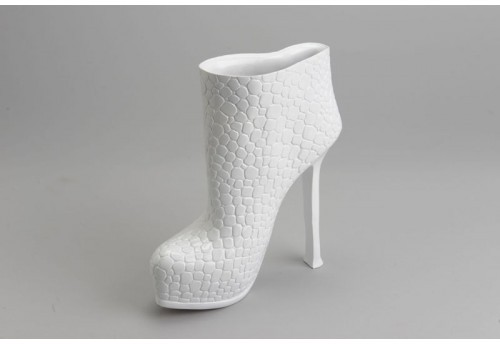 Statue Design Chaussure À Talon Fashion Blanche Amadeus