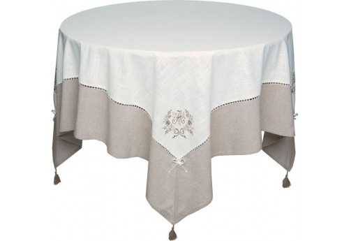 Nappe 150x200 brodee marquise ALIZEA