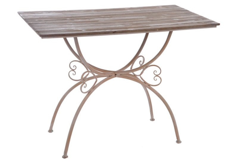 Table a manger fer et bois home design architecture for Table salle a manger fer et bois