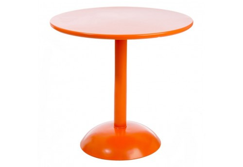 Table Ronde  Pop Métal Orange 80Cm J-Line
