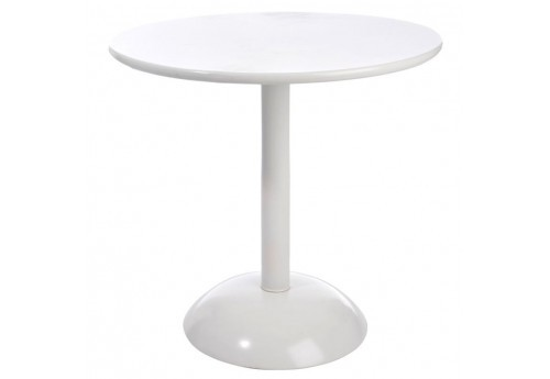 Table Ronde Pop Métal Blanc 80Cm J-Line