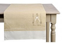 Nappes chemins de table serviettes 4 auxportesdeladeco - Chemin de table beige ...